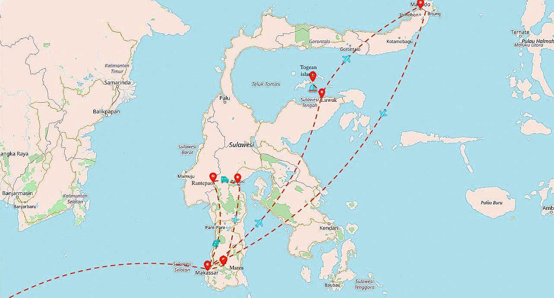 Карта Сулавеси- 2