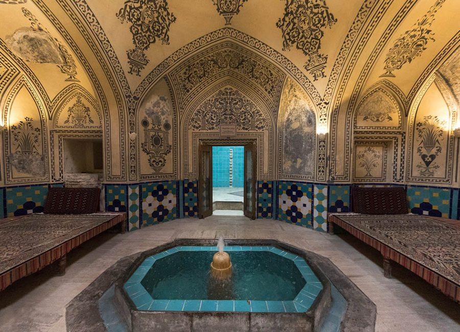 Interior of the Sultan Amir Ahmad Hamam (Bathhouse), Kashan, Esfahan Province, Iran