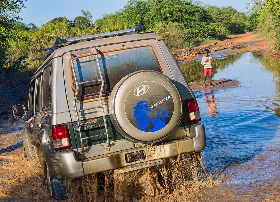 Challenging driving en route to Tsingy de Bemaraha National Park, Beopaka, Madagascar