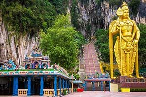 Batu Caves- пещерный храм в Куала Лумпуре