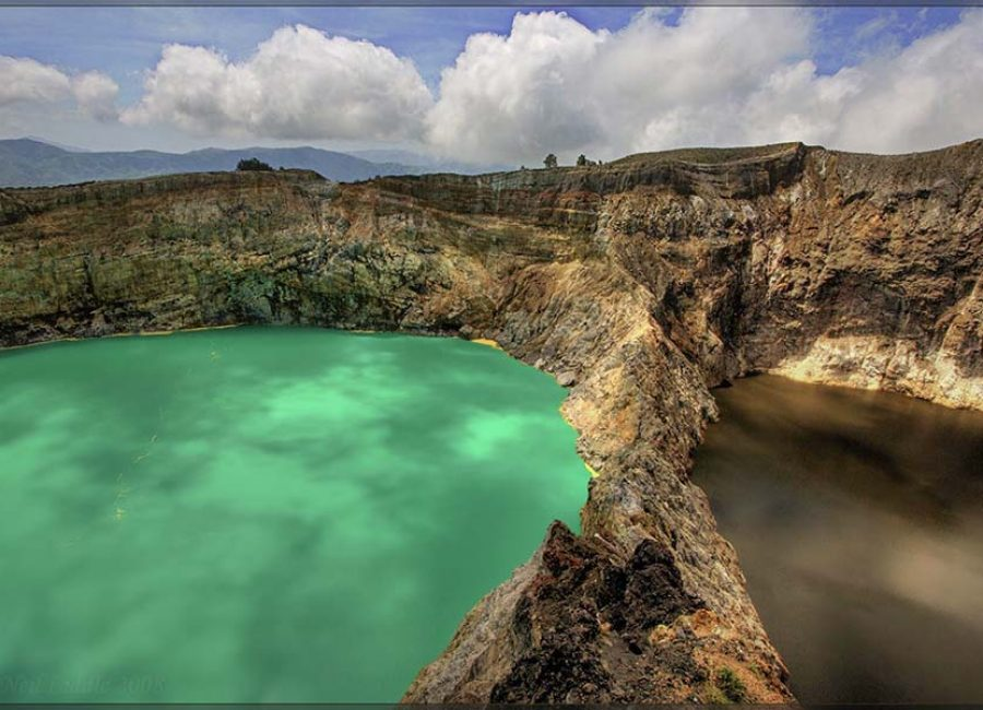 One of IndonesiaТs famous volcanic lake areas.  I did not like Moni !